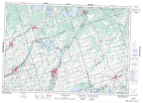 031C05 Campbellford Canadian topographic map, 1:50,000 scale
