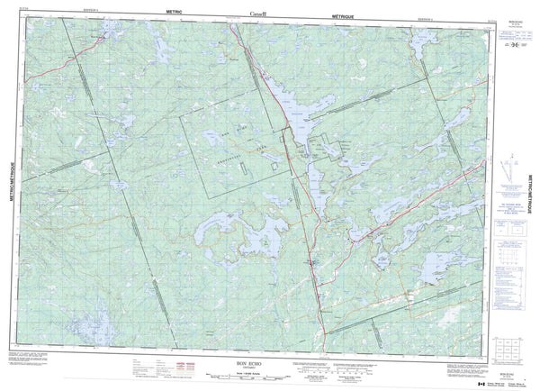 031C14 Bon Echo Canadian topographic map, 1:50,000 scale