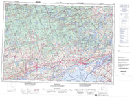 031C Kingston Canadian topographic map, 1:250,000 scale