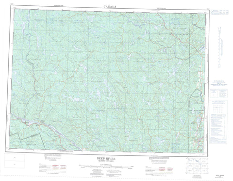 031K Deep River Canadian topographic map, 1:250,000 scale
