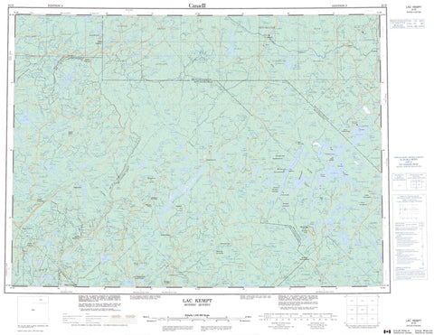 031O Lac Kempt Canadian topographic map, 1:250,000 scale