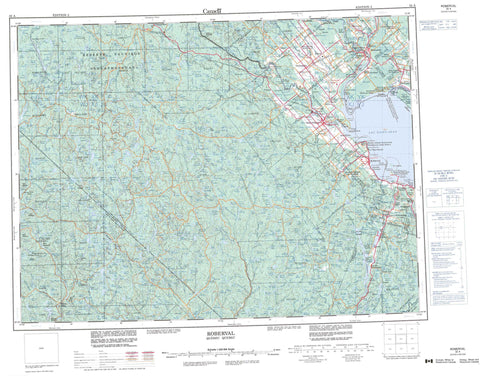 032A Roberval Canadian topographic map, 1:250,000 scale