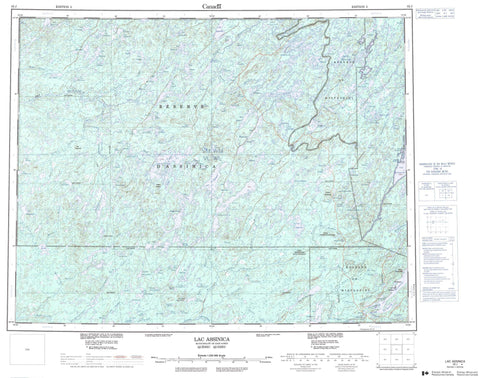 032J Lac Assinica Canadian topographic map, 1:250,000 scale
