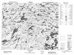 033B05 Lac Le Caron Canadian topographic map, 1:50,000 scale from Quebec Map Store