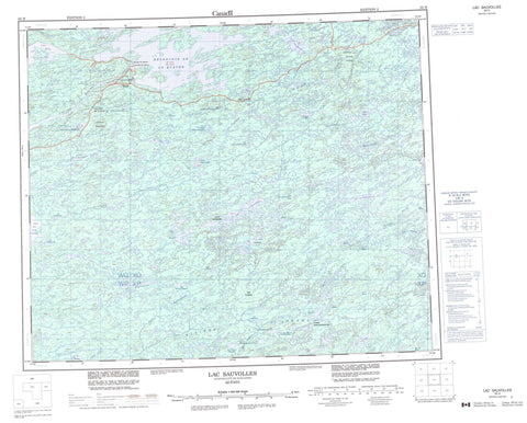 033H Lac Sauvolles Canadian topographic map, 1:250,000 scale