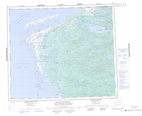 033L Pointe Louis Xiv Canadian topographic map, 1:250,000 scale