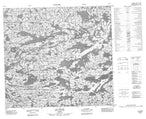 034H06 Lac Bizard Canadian topographic map, 1:50,000 scale from Quebec Map Store
