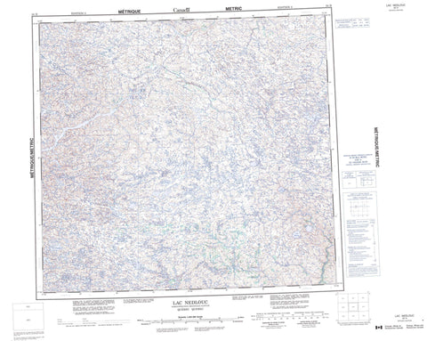 034H Lac Nedlouc Canadian topographic map, 1:250,000 scale