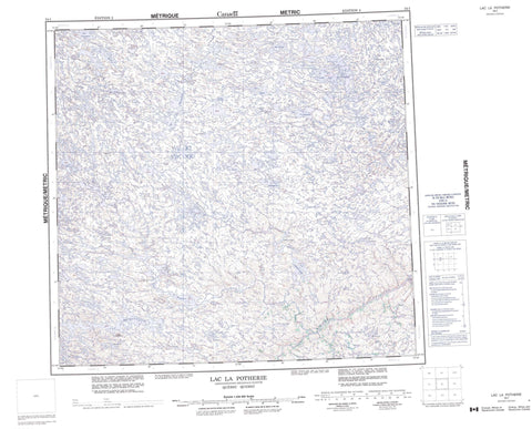 034I Lac La Potherie Canadian topographic map, 1:250,000 scale