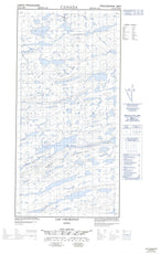 035G05E Lac Chukotat Canadian topographic map, 1:50,000 scale from Quebec Map Store