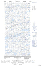035G06E Lac Belanger Canadian topographic map, 1:50,000 scale from Quebec Map Store
