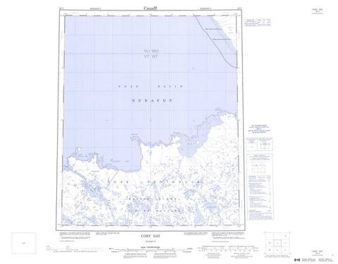 036G Cory Bay Canadian topographic map, 1:250,000 scale