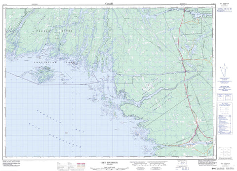 041H15 Key Harbour Canadian topographic map, 1:50,000 scale