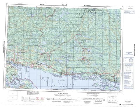 041J Blind River Canadian topographic map, 1:250,000 scale