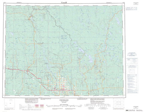 042H Cochrane Canadian topographic map, 1:250,000 scale
