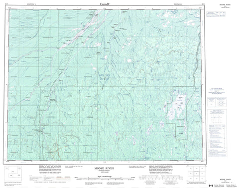 042I Moose River Canadian topographic map, 1:250,000 scale
