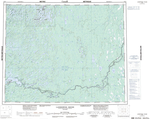 043D Lansdowne House Canadian topographic map, 1:250,000 scale
