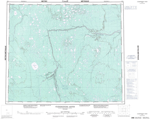 043L Clendenning River Canadian topographic map, 1:250,000 scale