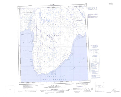 045N Bear Cove Canadian topographic map, 1:250,000 scale