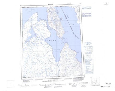 046F White Island Canadian topographic map, 1:250,000 scale