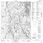 046L11 Christie Lake South Canadian topographic map, 1:50,000 scale from Nunavut Map Store