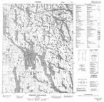 046L14 Christie Lake North Canadian topographic map, 1:50,000 scale from Nunavut Map Store