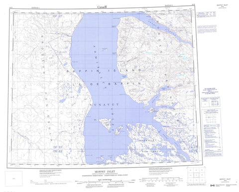 048B Moffet Inlet Canadian topographic map, 1:250,000 scale