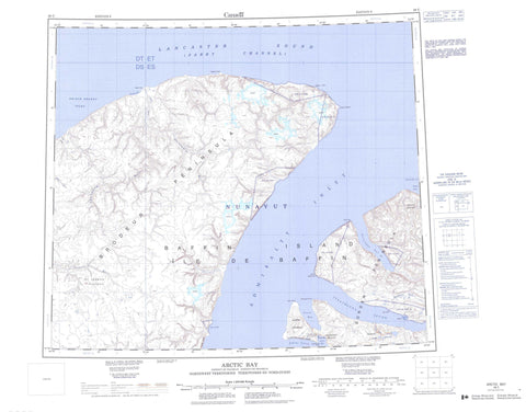 048C Arctic Bay Canadian topographic map, 1:250,000 scale