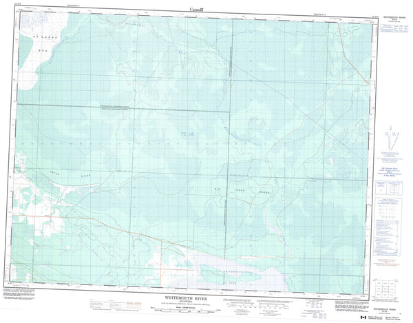 052E05 Whitemouth River Canadian topographic map, 1:50,000 scale