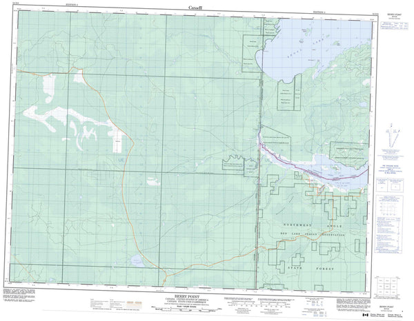 052E06 Berry Point Canadian topographic map, 1:50,000 scale