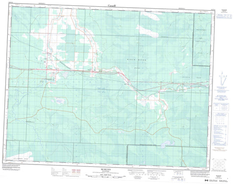 052E12 Mcmunn Canadian topographic map, 1:50,000 scale