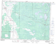 052E13 Whitemouth Canadian topographic map, 1:50,000 scale