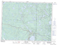 052E14 Caddy Lake Canadian topographic map, 1:50,000 scale