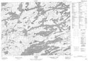 052K01 Hudson Canadian topographic map, 1:50,000 scale from Ontario Map Store
