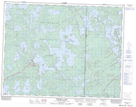 052L03 Crowduck Lake Canadian topographic map, 1:50,000 scale