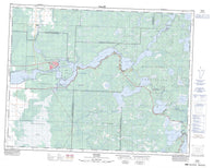 052L04 Pinawa Canadian topographic map, 1:50,000 scale