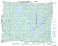 052M03 Aikens Lake Canadian topographic map, 1:50,000 scale