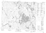 052M12 Sasaginnigak Lake Canadian topographic map, 1:50,000 scale