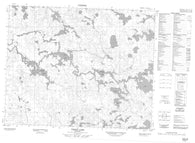 052M13 Viking Lake Canadian topographic map, 1:50,000 scale