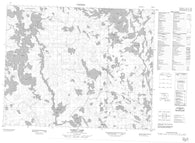 052M14 Family Lake Canadian topographic map, 1:50,000 scale