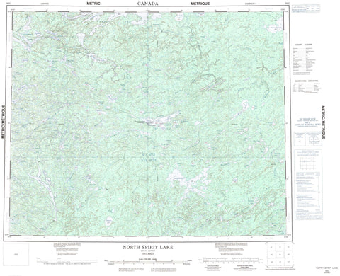 053C North Spirit Lake Canadian topographic map, 1:250,000 scale