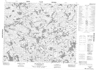 053D06 Red Willow Lake Canadian topographic map, 1:50,000 scale