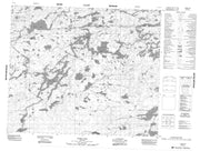 053E14 Dobbs Lake Canadian topographic map, 1:50,000 scale from Manitoba Map Store