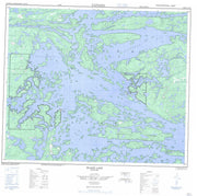 053E15 Island Lake Canadian topographic map, 1:50,000 scale from Manitoba Map Store