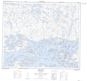 053E16 York Lake Canadian topographic map, 1:50,000 scale from Manitoba Map Store
