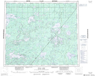 053K Stull Lake Canadian topographic map, 1:250,000 scale