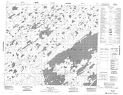 053M02 Mines Point Canadian topographic map, 1:50,000 scale from Manitoba Map Store