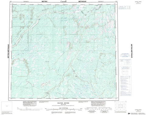 054C Hayes River Canadian topographic map, 1:250,000 scale