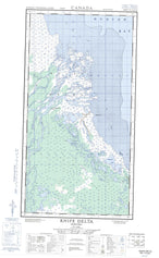 054L15E Knife Delta Canadian topographic map, 1:50,000 scale from Manitoba Map Store