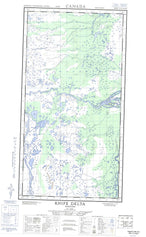054L15W Knife Delta Canadian topographic map, 1:50,000 scale from Manitoba Map Store